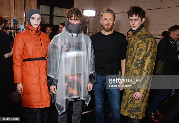 Hunter Creative Director Alasdhair Willis attends the Hunter Original AW15 catwalk show during London Fashion Week Autumn/Winter 2015/16 on February...