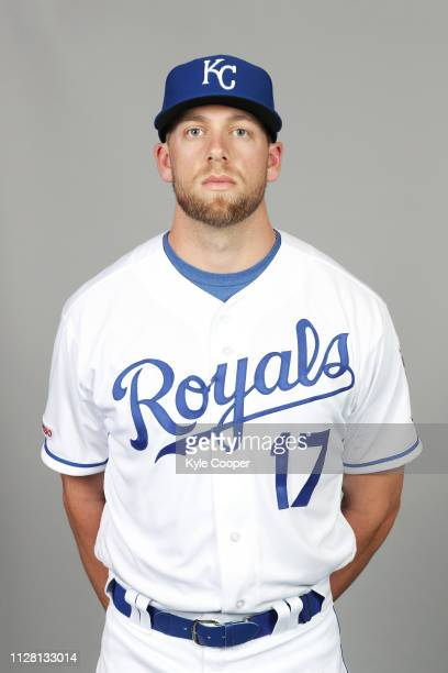 Hunter Dozier of the Kansas City Royals poses during Photo Day on Thursday February 21 2019 at Surprise Stadium in Surprise Arizona