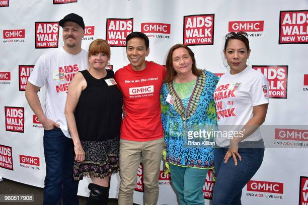 Hunter Emery Annie Golden Kelsey Louie Dale Soules and Selenis Leyva attend the 2018 AIDS Walk New York on May 20 2018 in New York City