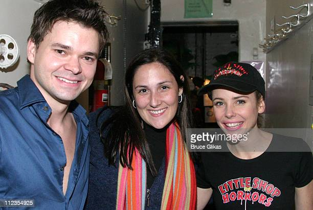 Hunter Foster who plays Seymour Ricki Lake and Kerry Butler who plays Audrey *Exclusive*