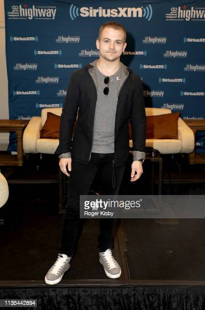 Hunter Hayes attends the SiriusXM's The Highway broadcast backstage leading up to the Academy of Country Music Awards at MGM Grand Garden Arena on...