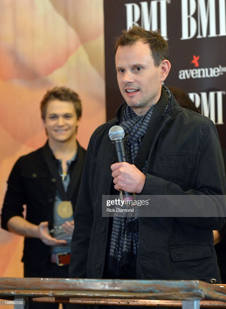 Hunter Hayes co-writer and Troy Verges co-writer attend the 'Wanted' No 1 Party on January 17, 2013 in Nashville, Tennessee.