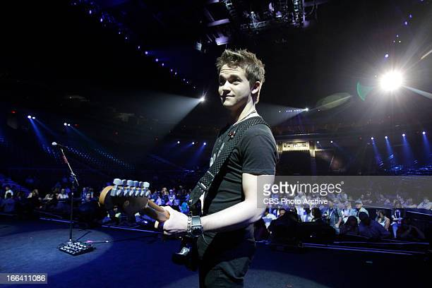 Hunter Hayes during rehearsal for the ACM Fan Jam held at The Orleans Arena in Las Vegas NV The 48th Annual Academy of Country Music Awards which...