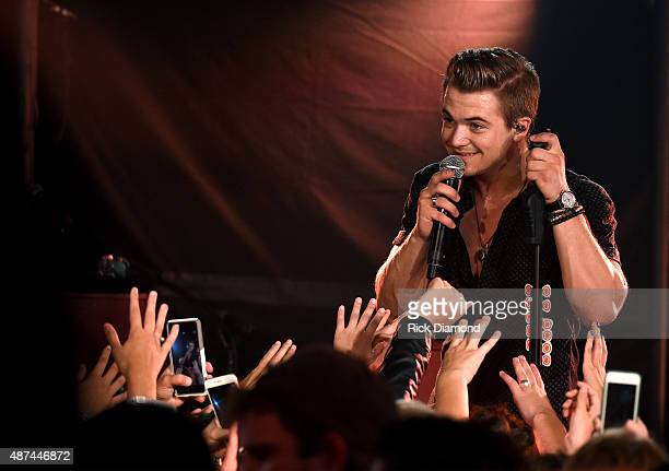 Hunter Hayes performs a surprise popup concert as part of CMT Instant Jam on September 9 2015 in Lexington Kentucky The concert premieres September...