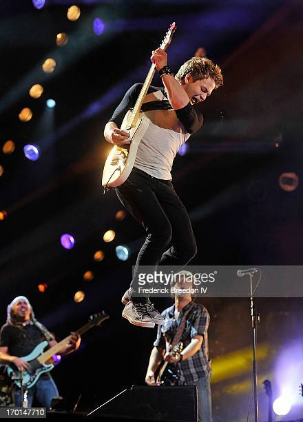 Hunter Hayes performs at LP Field during the 2013 CMA Music Festival on June 7 2013 in Nashville Tennessee