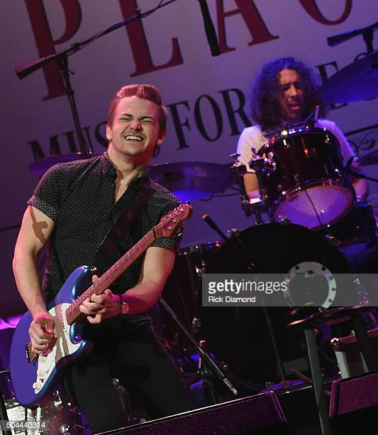 Hunter Hayes performs during Sam's Place Music For The Spirit Hosted by Steven Curtis Chapman at The Ryman Auditorium on January 10 2016 in Nashville...