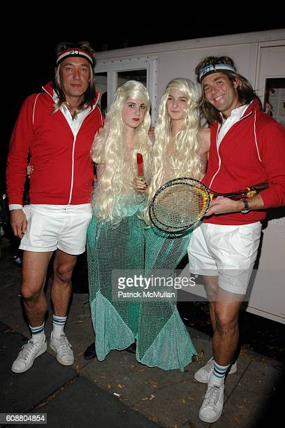 Hunter Hill Emily Ali Lebow and Perry Moore attend ALLISON SAROFIM Surealistic Costume Party at Allison Sarofim Townhouse on October 27 2007 in New...
