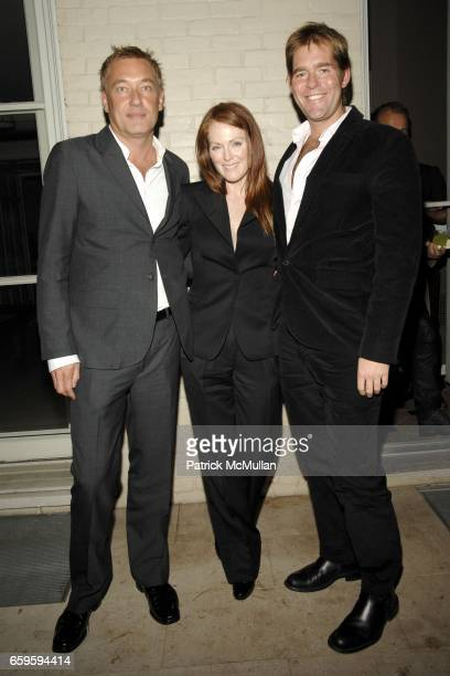 Hunter Hill Julianne Moore and Perry Moore attend 66 Productions Tell Them Anything You Want at the Allison Sarofim Residence on October 8 2009 in...
