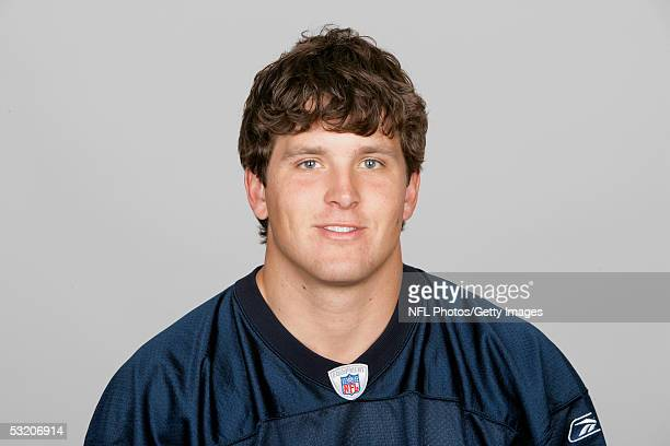 Hunter Hillenmeyer of the Chicago Bears poses for his 2005 NFL headshot at photo day in Chicago Illinois