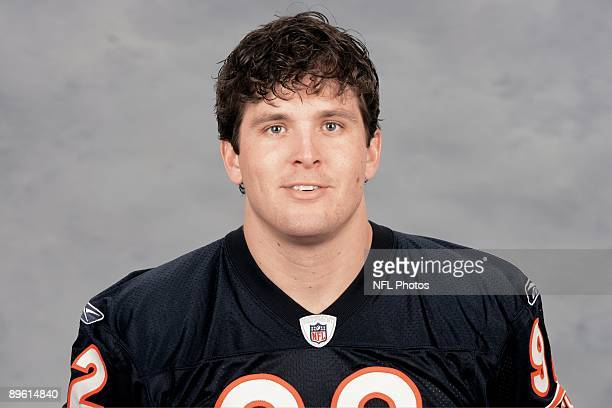 Hunter Hillenmeyer of the Chicago Bears poses for his 2009 NFL headshot at photo day in Chicago Illinois