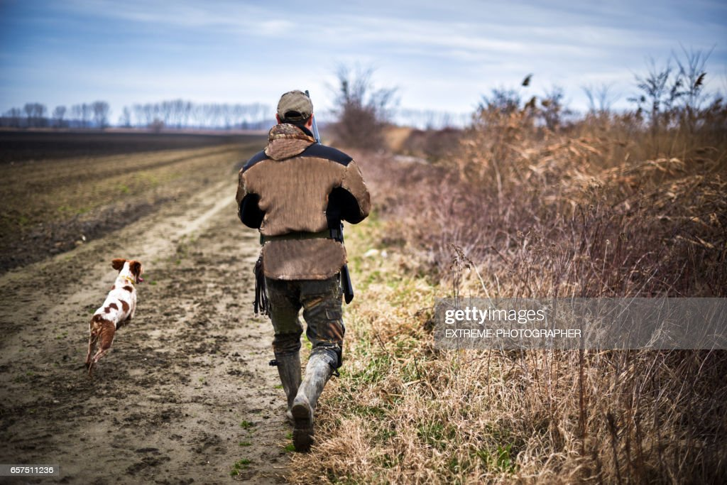Hunter in the nature : Stock Photo