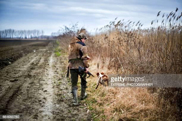 Hunter in de natuur
