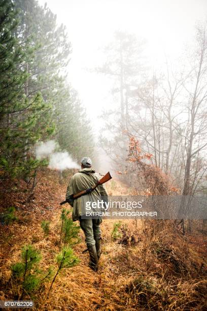 Hunter in the woods