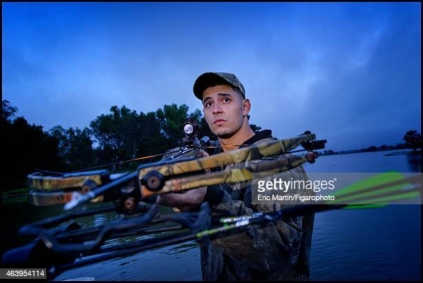 A hunter is photographed for Le Figaro Magazine on October 31 2013 in the Atachafalaya basin Louisiana CREDIT MUST READ Eric...