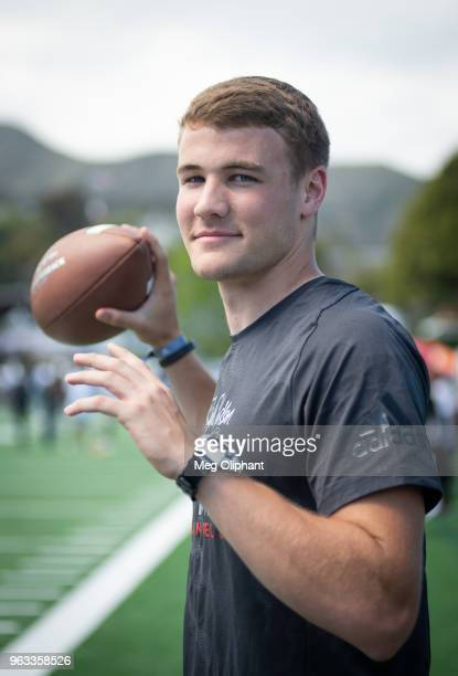 Hunter Johnson of Clemson University poses for portraits at Steve Clarkson's 14th Annual Quarterback Retreat on May 26 2018 in Pacific Palisades...