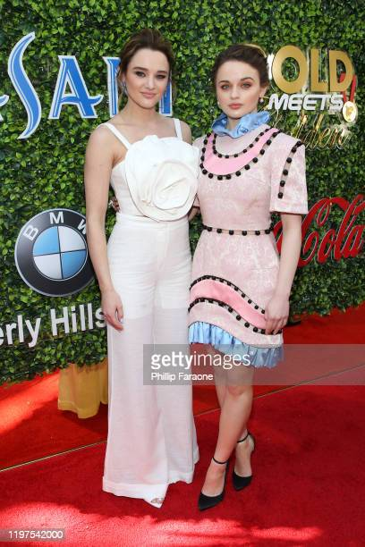 Hunter King and Joey King attend GOLD MEETS GOLDEN 2020, presented by Coca-Cola, BMW Beverly Hills And FASHWIRE, and hosted by Nicole Kidman and...