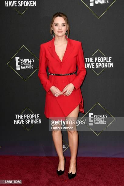 Hunter King attends the 2019 E People's Choice Awards at Barker Hangar on November 10 2019 in Santa Monica California