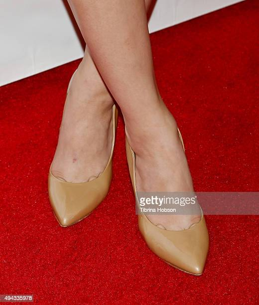 Hunter King shoe detail attends ACT's 10th annual Denim Diamonds Gala at Four Seasons Hotel on October 25 2015 in Westlake Village California