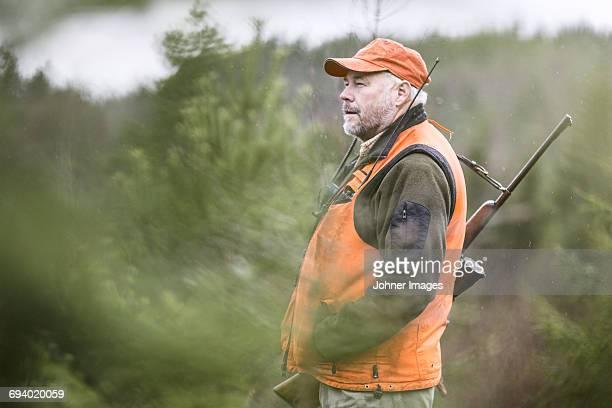Hunter looking away