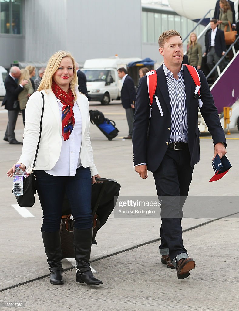 USA Team Arrival At Edinburgh Airport - 2014 Ryder Cup