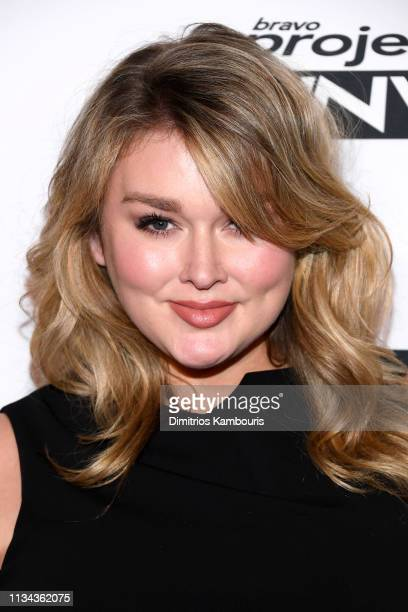 Hunter McGrady attends Bravo's Project Runway New York Premiere at Vandal on March 07 2019 in New York City