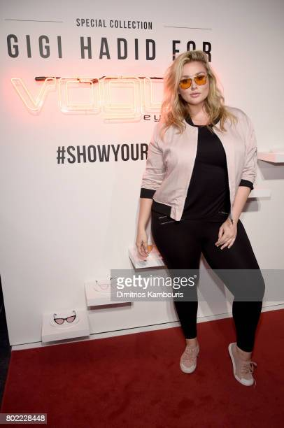Hunter McGrady attends Gigi Hadid for Vogue Eyewear #ShowYourParty event at Industria Superstudio on June 27 2017 in New York City