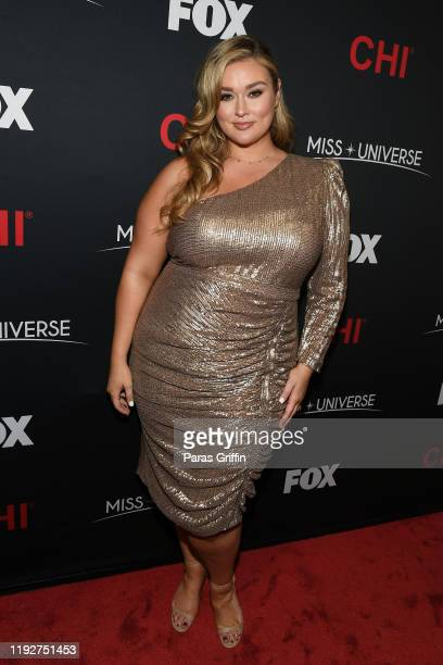 Hunter McGrady attends the 2019 Miss Universe Pageant at Tyler Perry Studios on December 08 2019 in Atlanta Georgia