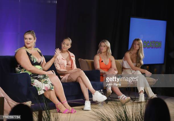 Hunter Mcgrady Jasmine Sanders Paige Van Zant and Kate Bock attend the Sports Illustrated Swimsuit On Location at Ice Palace on May 10 2019 in Miami...