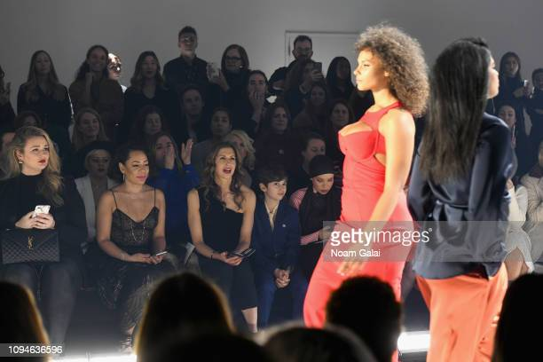 Hunter McGrady Selenis Leyva Alysia Reiner guest Alysia Reiner and Blair Imani attend the 11 Honore front row during New York Fashion Week The Shows...