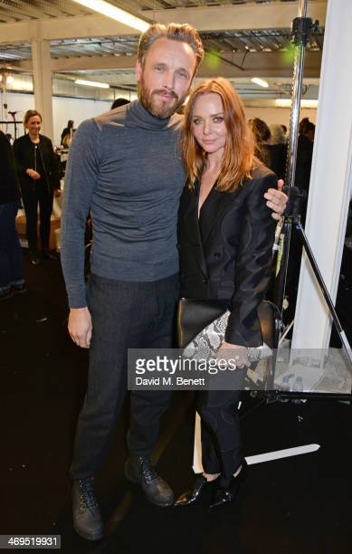 Hunter Original Creative Director Alasdhair Willis and Stella McCartney attend the Hunter Original AW 2014 Show at Ambika P3 Gallery University of...