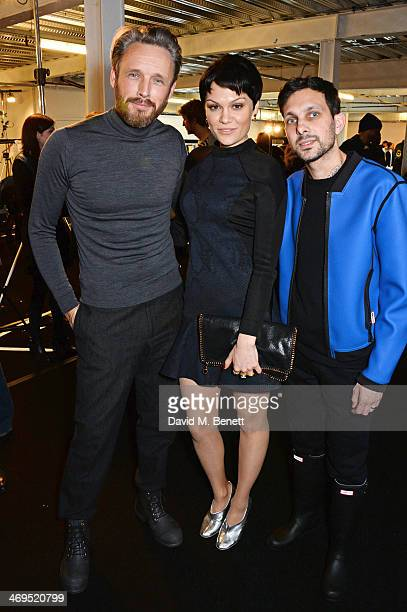 Hunter Original Creative Director Alasdhair Willis Jessie J and Dynamo attend the Hunter Original AW 2014 Show at Ambika P3 Gallery University of...