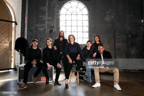 Hunter PageLochard Dylan River Warwick Thornton Leah Purcell Ivan Sen Rachel Perkins and Aaron FaÕaso pose at a media call ahead of the 25th...