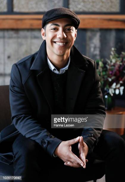 Hunter PageLochard poses for a media call ahead of the 25th Anniversary of Screen Australia's Indigenous Department at Carriageworks on August 30...