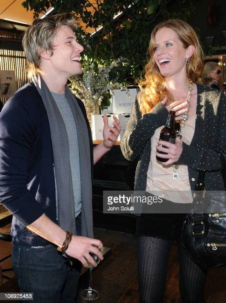 Hunter Parish and Rebecca Mader attend the luncheon for the Solstice Sunglassescom ECommerce launch on November 16 2010 in West Hollywood California