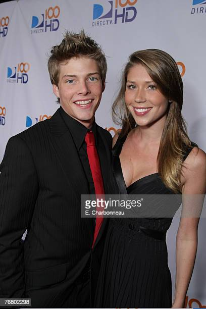 Hunter Parrish and Allison Tyler at the DIRECTV's 100 HD Emmy Party at the West Hollywood Municipal Park on September 17 2007 in West Hollywood CA