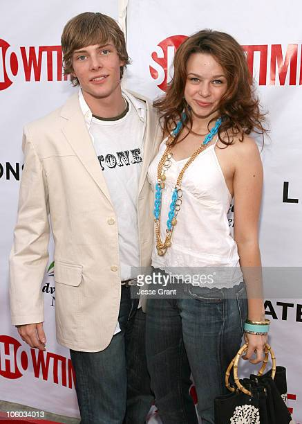 Hunter Parrish and Joy Lauren during Weeds Season Two Premiere Arrivals at The Egyptian Theatre in Hollywood California United States