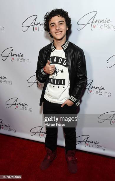 Hunter Payton attends the Annie LeBling presents Annie LeBlanc Performance Pop Up Shop on December 8 2018 in Los Angeles California