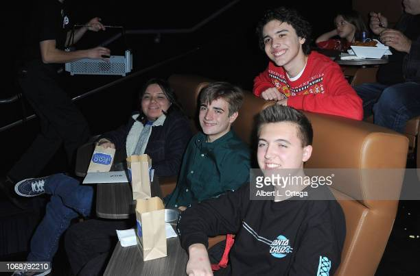 Hunter Payton Norton Leufven Brent Anthony and Daniel Thornton arrive for Hunter Payton And The Shoe Crew Holiday Charity Fundraiser Screening of...