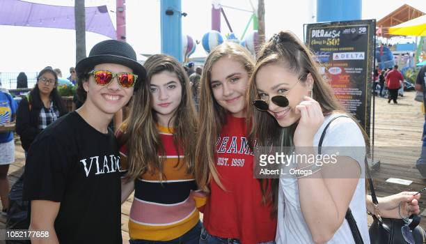 Hunter Payton Samantha Ganga Alyssa de Boisblanc and Julianne Collins attend Special Olympics Pier Del Sol held at Pacific Park on the Santa Monica...