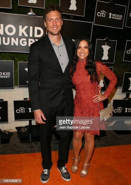 Hunter Pence and Alexis Cozombolidis attend the Los Angeles No Kid Hungry dinner held on October 26 2018 in Los Angeles California