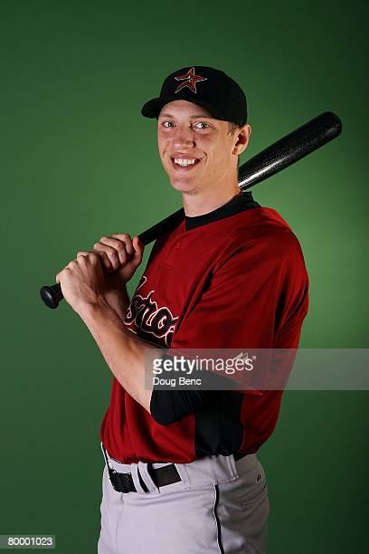 Hunter Pence of the Houston Astros poses during Spring Training Photo Day at Osceola County Stadium on February 25 2008 in Kissimmee Florida