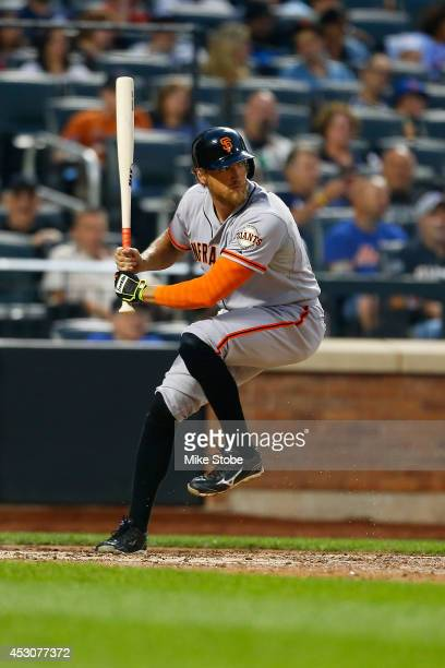Hunter Pence of the San Francisco Giants in action against the New York Mets at Citi Field on August 1 2014 in the Flushing neighborhood of the...