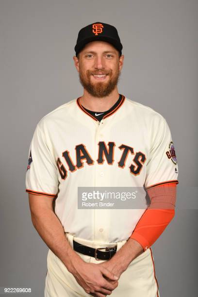 Hunter Pence of the San Francisco Giants poses during Photo Day on Tuesday February 20 2018 at Scottsdale Stadium in Scottsdale Arizona