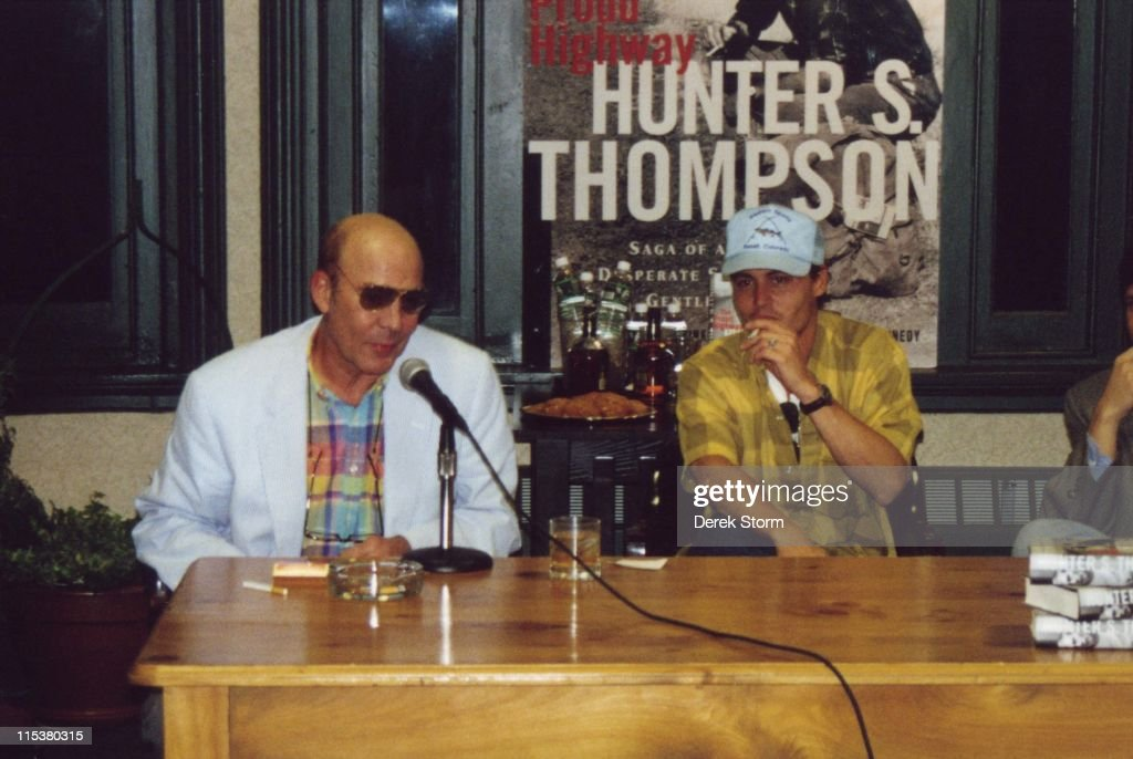 "Hunter S Thompson Promotes ""The Proud Highway"" with Johnny Depp"