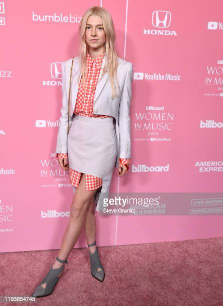 Hunter Schafer arrives at the 2019 Billboard Women In Music at Hollywood Palladium on December 12 2019 in Los Angeles California