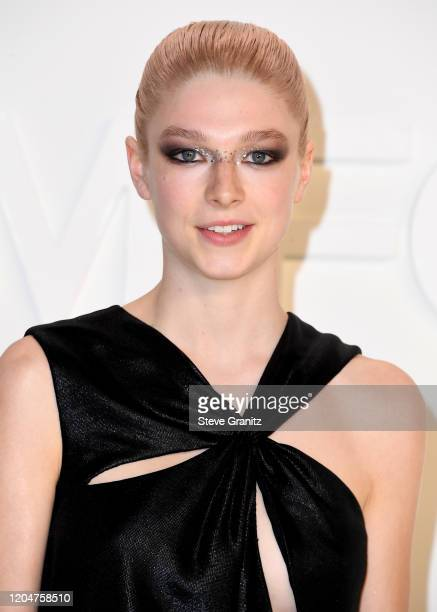 Hunter Schafer arrives at the Tom Ford AW20 Show at Milk Studios on February 07 2020 in Hollywood California