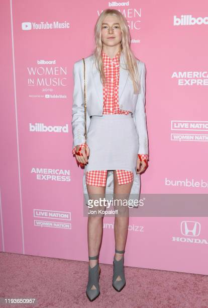 Hunter Schafer attends the 2019 Billboard Women In Music at Hollywood Palladium on December 12 2019 in Los Angeles California