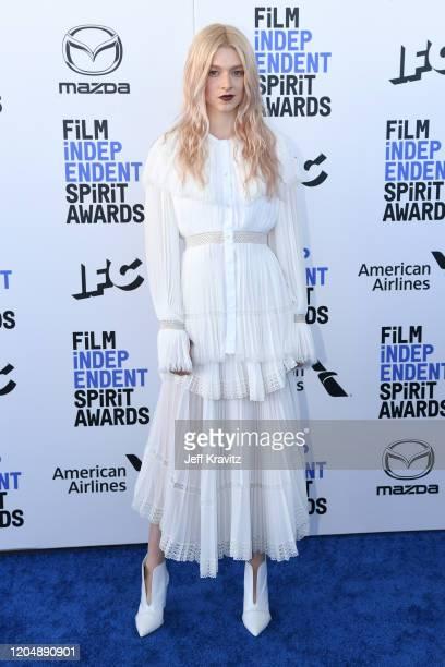 Hunter Schafer attends the 2020 Film Independent Spirit Awards on February 08, 2020 in Santa Monica, California.