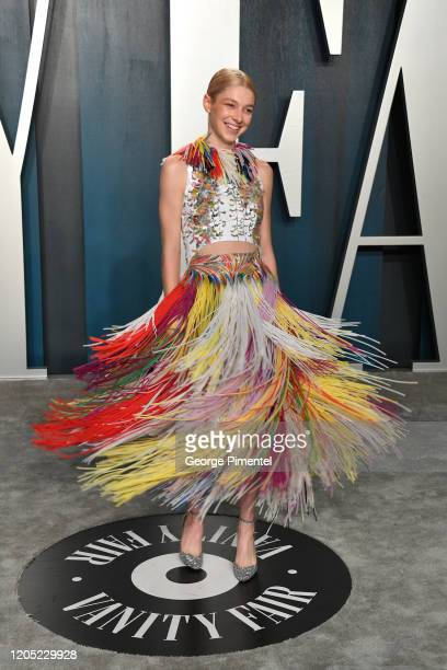 Hunter Schafer attends the 2020 Vanity Fair Oscar party hosted by Radhika Jones at Wallis Annenberg Center for the Performing Arts on February 09...
