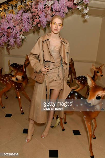 Hunter Schafer attends the Burberry Autumn/Winter 2020 show after party hosted by Riccardo Tisci on February 17 2020 in London England